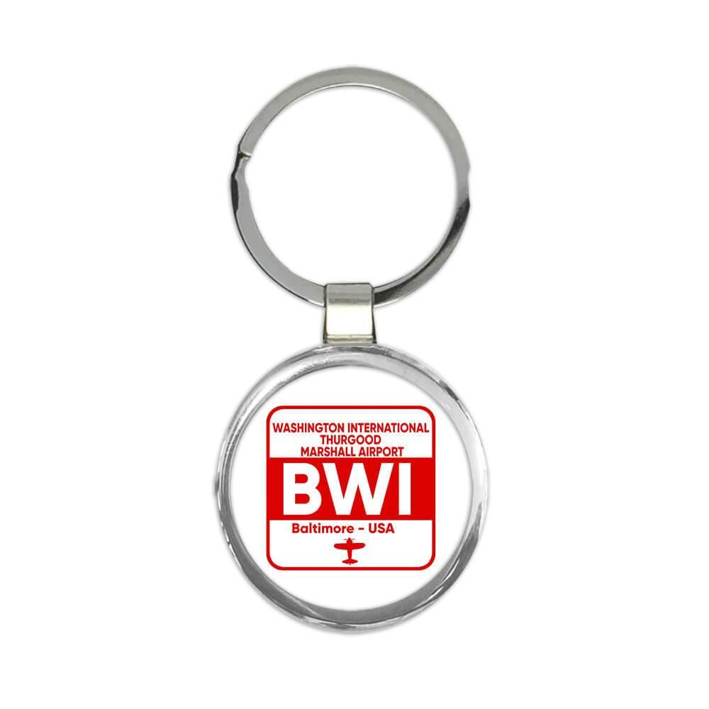 USA Washington Airport Baltimore BWI Maryland : Gift Keychain Travel Airline Pilot AIRPORT