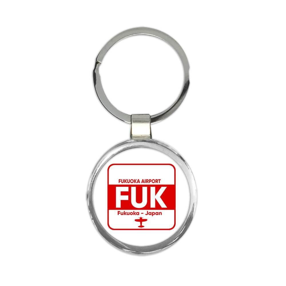 Japan Fukuoka Airport Fukuoka FUK : Gift Keychain Travel Airline Pilot AIRPORT