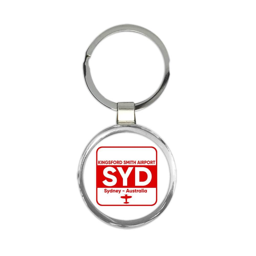 Australia Kingsford Smith Airport Sydney SYD : Gift Keychain Travel Airline Pilot