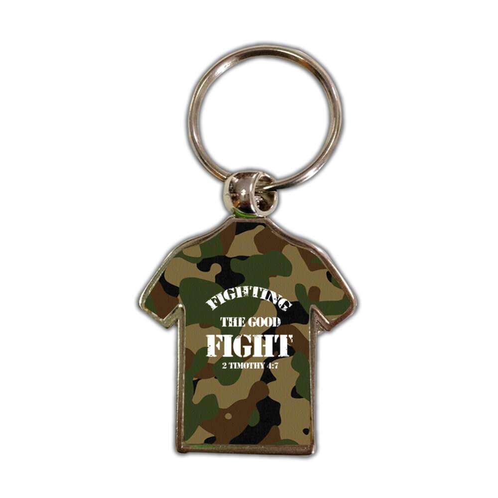 Fighting The Good Fight : Gift Keychain Christian Catholic Jesus God
