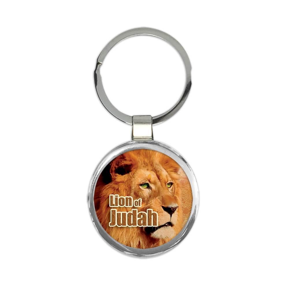 Lion of Judah : Gift Keychain Christian Religious Jesus God Faith Evangelical Jesus
