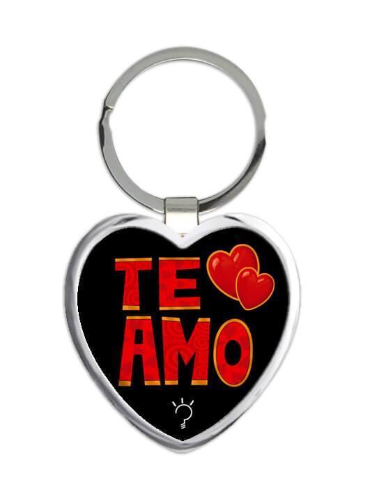Te Amo : Gift Keychain Spanish Valantines Day Dia del Carino Romantic