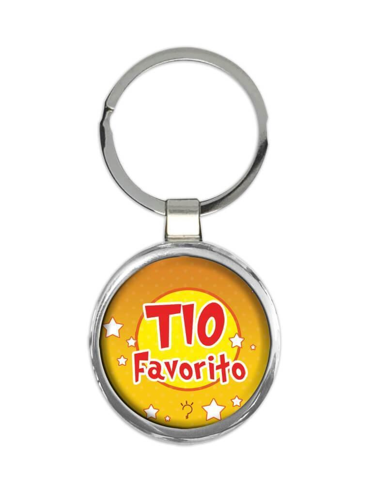 Tio Favorito : Gift Keychain For Uncle in Spanish Portuguese Favorite Uncle
