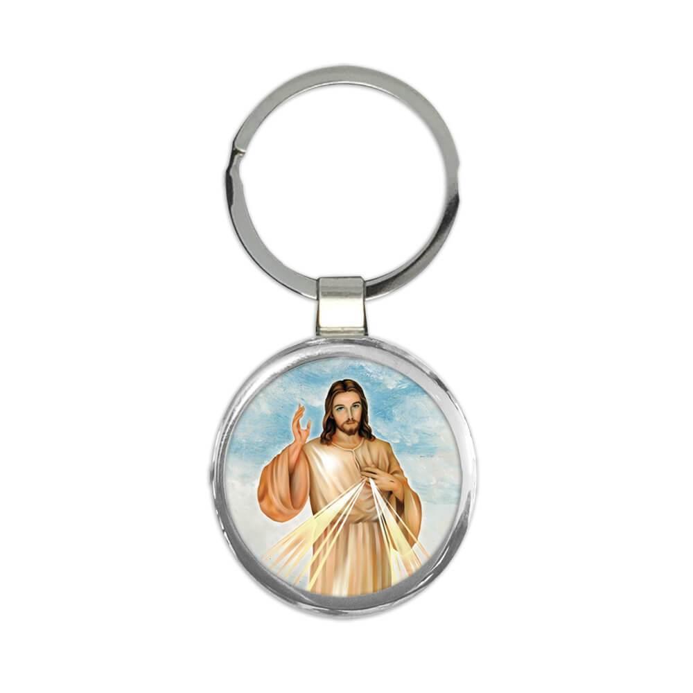 Merciful Jesus : Gift Keychain Catholic Religious Divine Mercy Christ