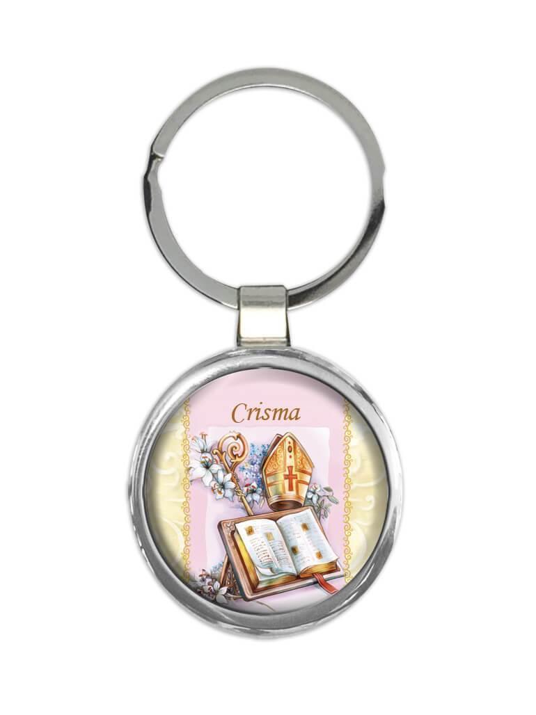 Crisma : Gift Keychain Católica Católico Sacramento Religiosa Confirmação