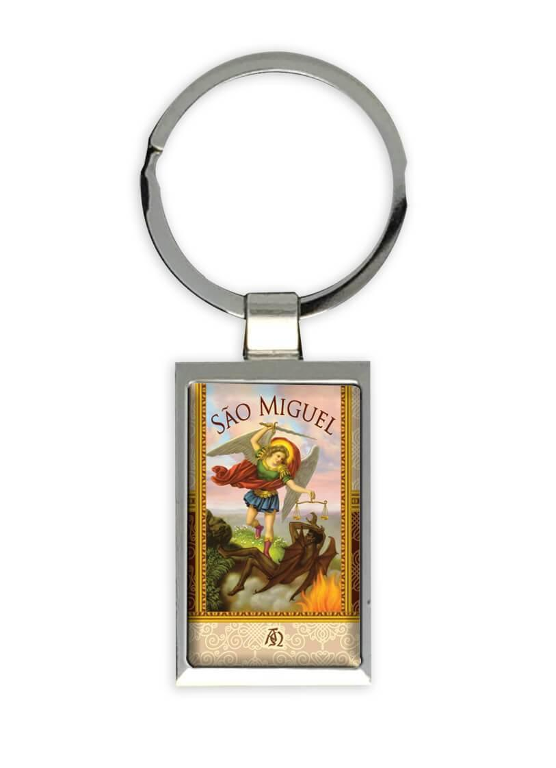 Sao Miguel Arcanjo : Gift Keychain Católica Católico Santo Angel Religiosa