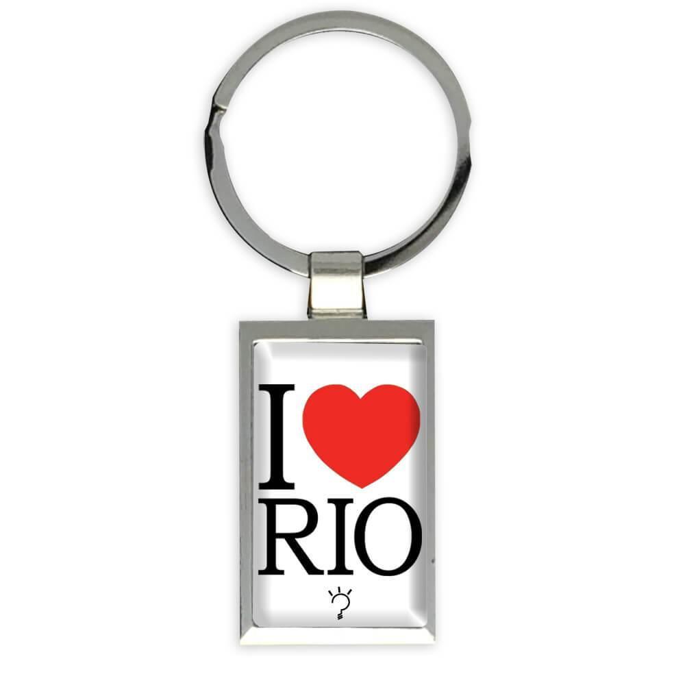 I Love Rio : Gift Keychain de Janeiro Brazil Brasil Tourism Country Cup