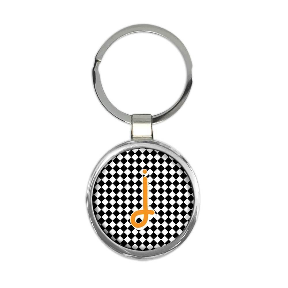 Monogram Letter J : Gift Keychain Alphabet Initial Name ABC