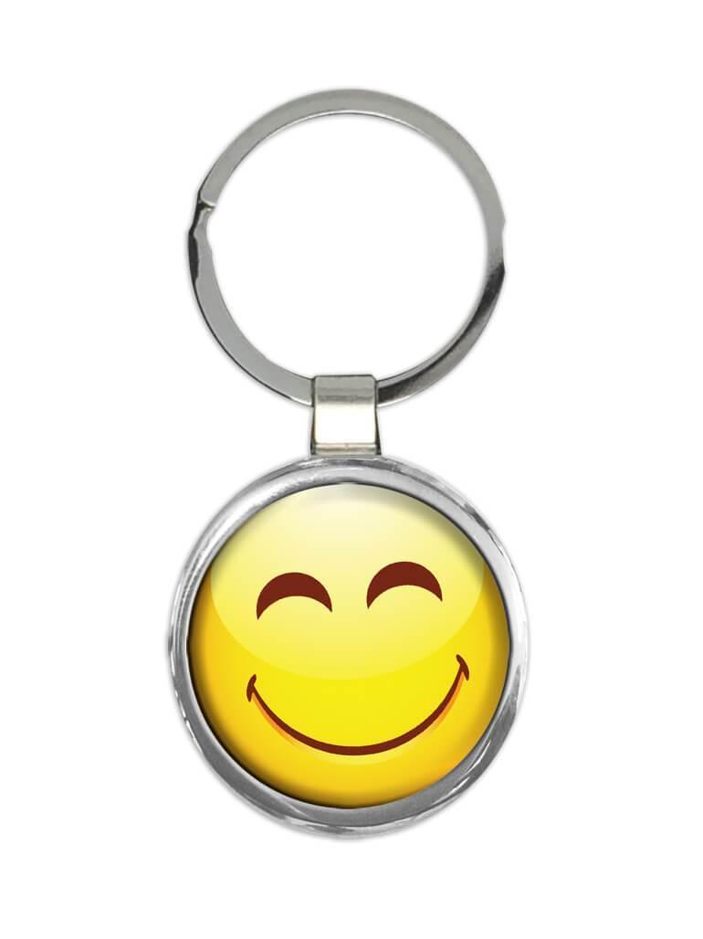 Emoji Smiley Faces Blink : Gift Keychain Emoticon Geek Funny