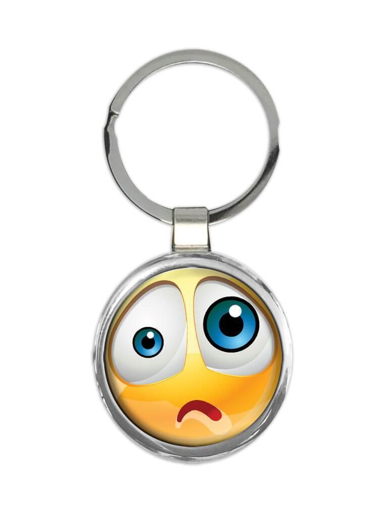 Emoji Smiley Sad Face : Gift Keychain Emoticon Geek Funny Social Media