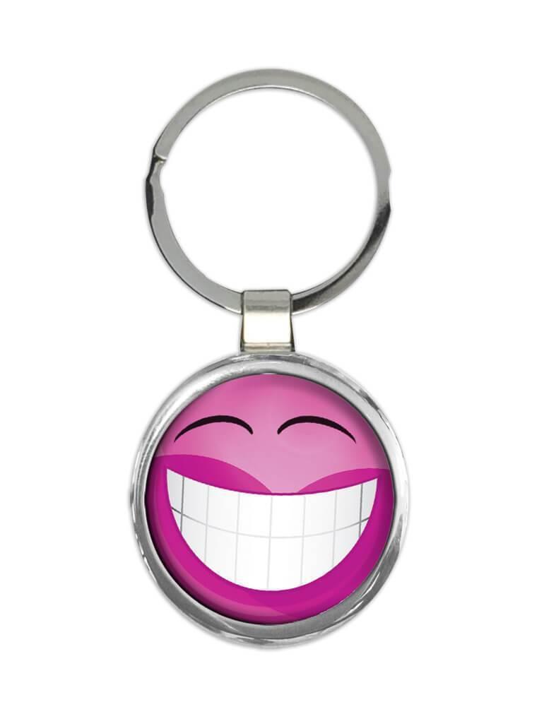 Pink Emoji Smiley Faces : Gift Keychain Emoticon Geek Funny