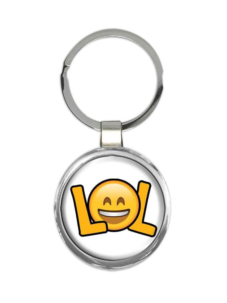 Emoji LoL : Gift Keychain Laughing Out Loud Smiley Funny Cute Cup
