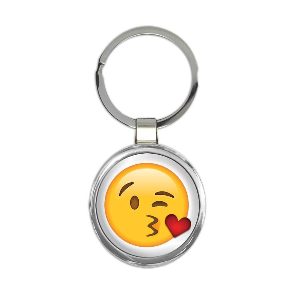 Wink Love Emoji : Gift Keychain Funny Cute Emoji Valentines Social Media