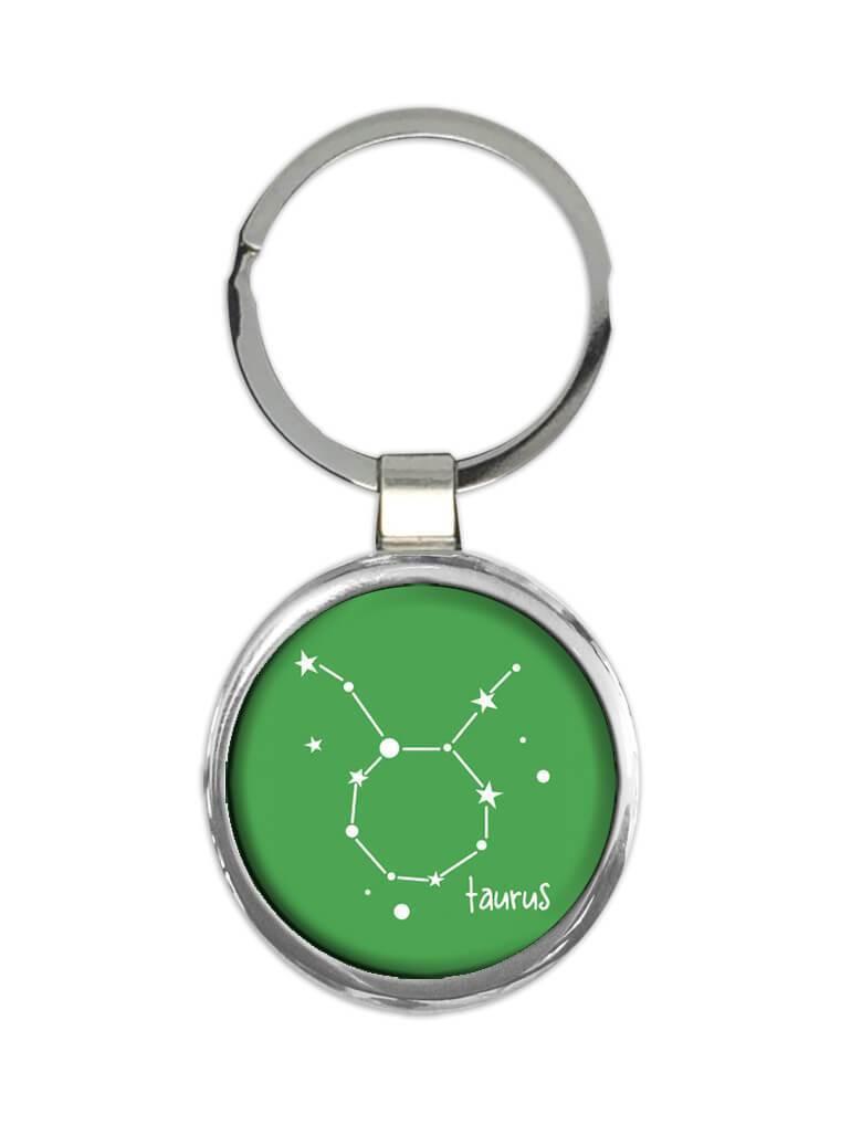 Taurus : Gift Keychain Zodiac Signs Esoteric Horoscope Astrology