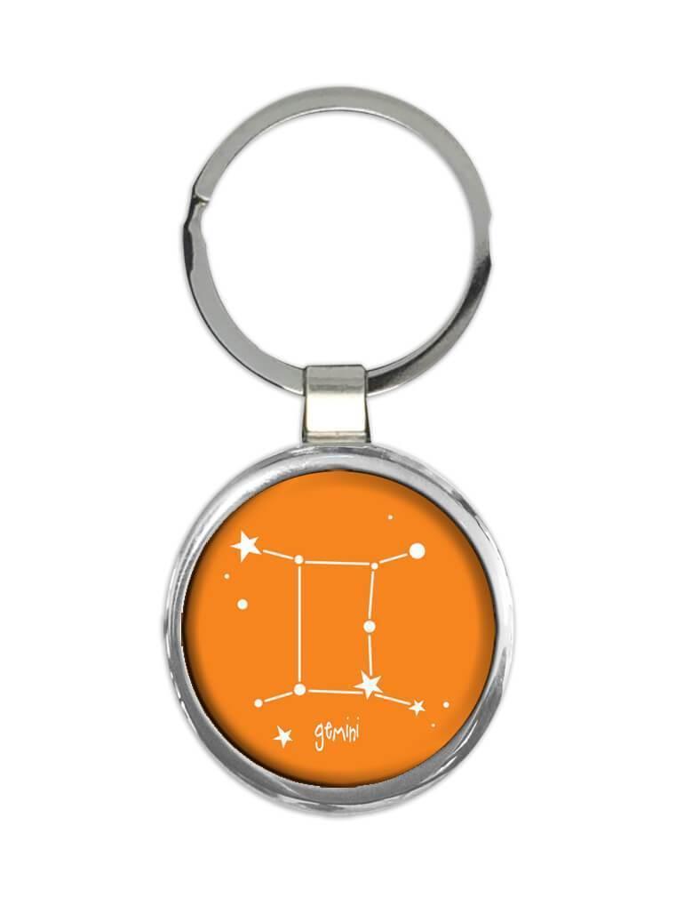 Gemini : Gift Keychain Zodiac Signs Esoteric Horoscope Astrology