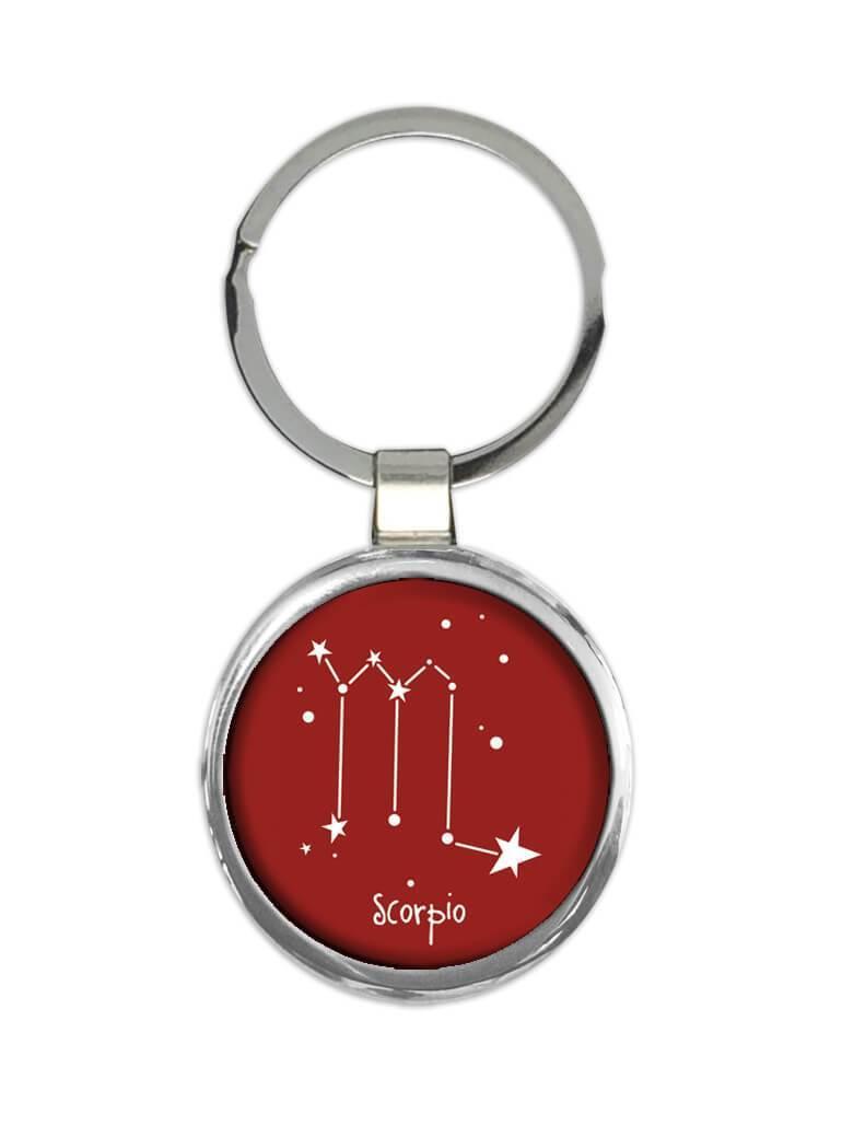 Scorpio : Gift Keychain Zodiac Signs Esoteric Horoscope Astrology