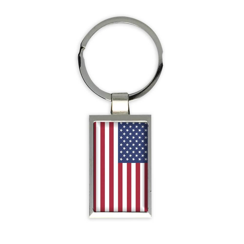 USA Flag : Gift Keychain Americana Patriot Flag Country United States