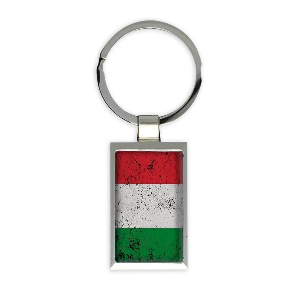 Italy : Gift Keychain Flag Retro Artistic Italian Expat Country
