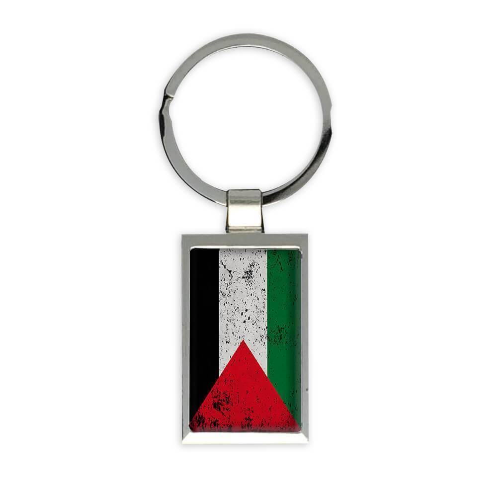 Palestine : Gift Keychain Flag Retro Artistic Palestinian Expat Country