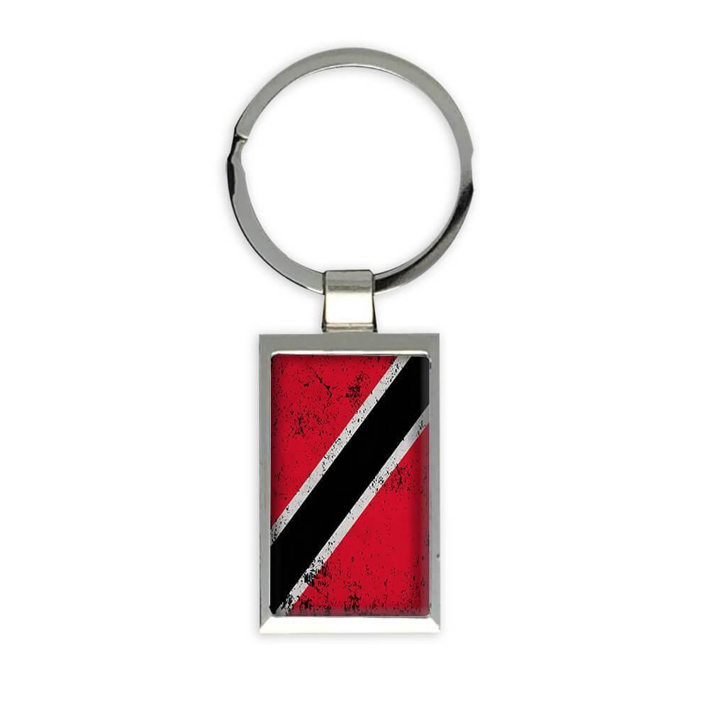 Trinidad and Tobago : Gift Keychain Flag Retro Artistic Trinidadian Expat Country