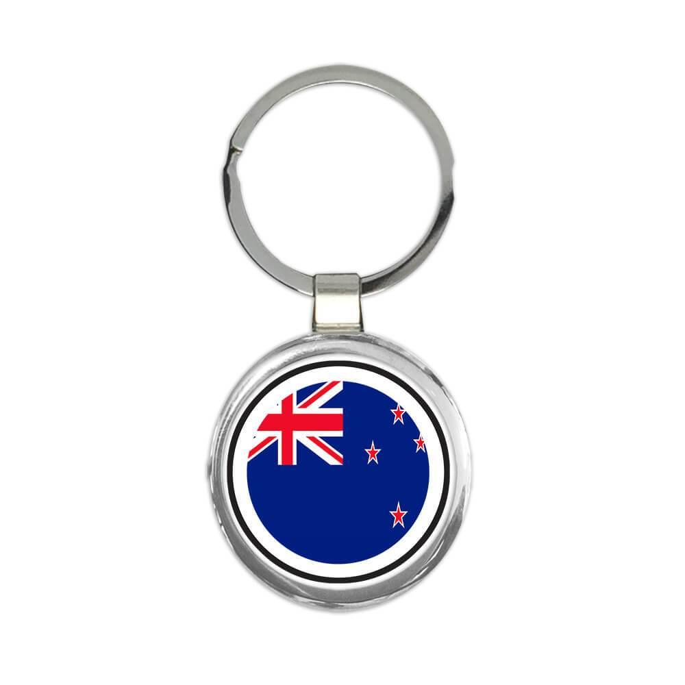 New Zealand : Gift Keychain Flag Never Underestimate The New Zealander Expat Country