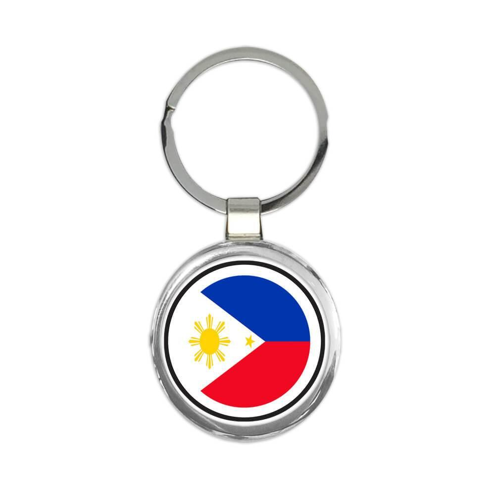 Philippines : Gift Keychain Flag Never Underestimate The Power Filipino Expat Country