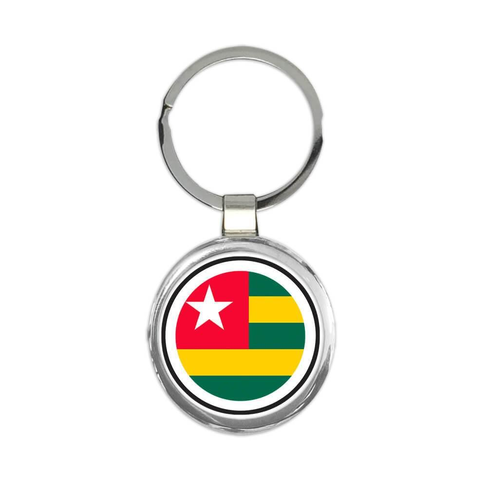 Togo : Gift Keychain Flag Never Underestimate The Power Togolese Expat Country