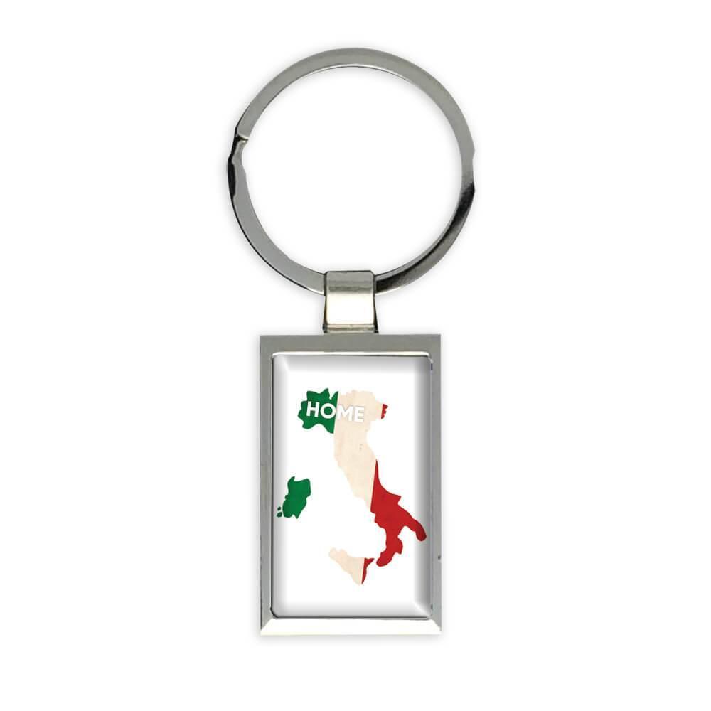 Italy Home MAP Flag : Gift Keychain Italian Wine Epat Country Pride
