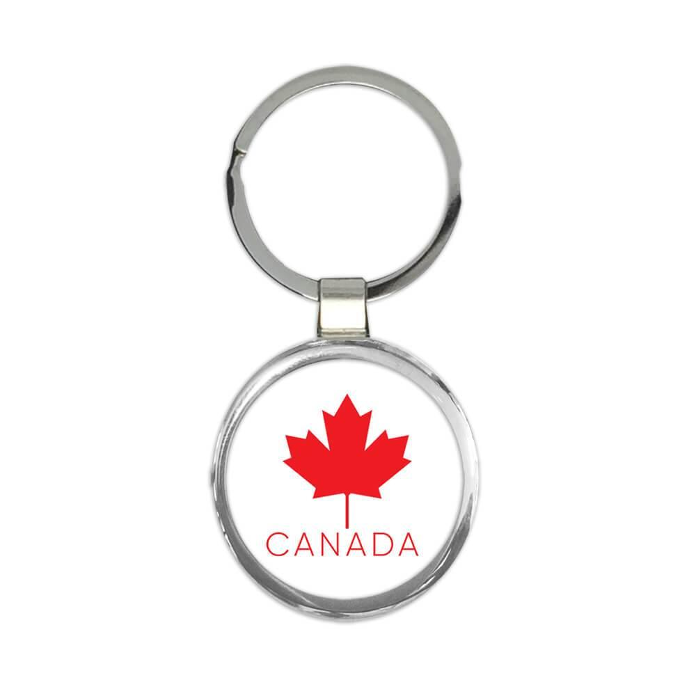 Canada Maple Leaf : Gift Keychain Canadian Expat Country Flag