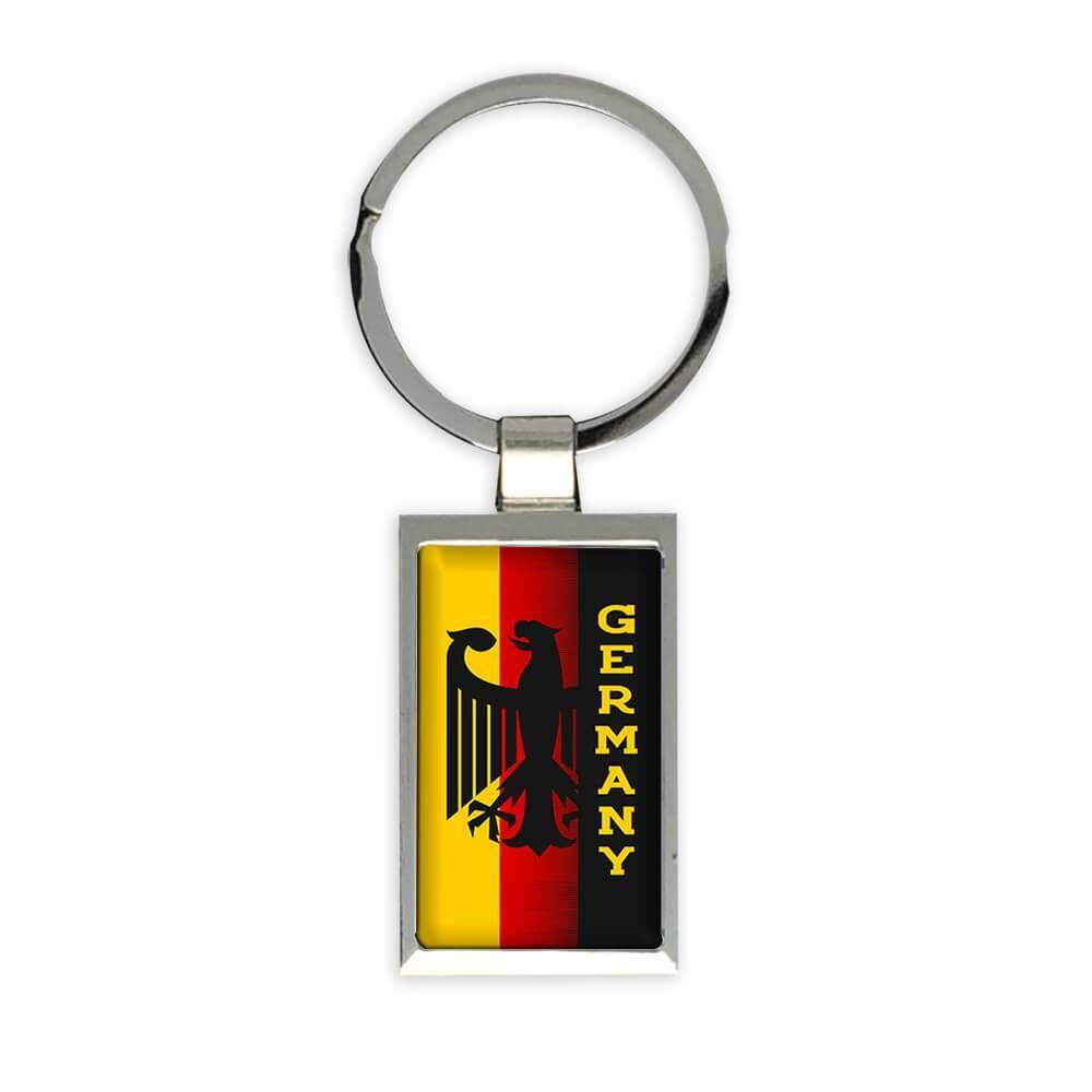 Germany Eagle : Gift Keychain Crest Flag Country German Expat Deutschland