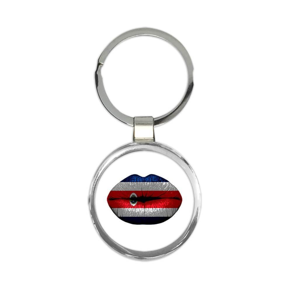Lips Costa Rican Flag : Gift Keychain Costa Rica Expat Country