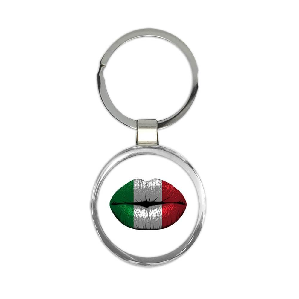 Lips Italian Flag : Gift Keychain Italy Expat Country For Her Woman Feminine Women Sexy Flags Lipstick