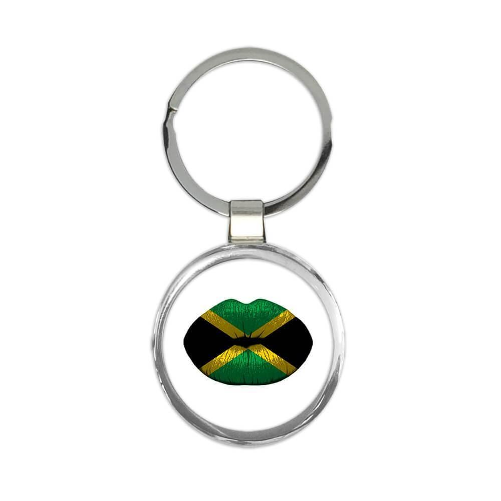 Lips Jamaican Flag : Gift Keychain Jamaica Expat Country For Her Woman Feminine Women Sexy Flags Lipstick