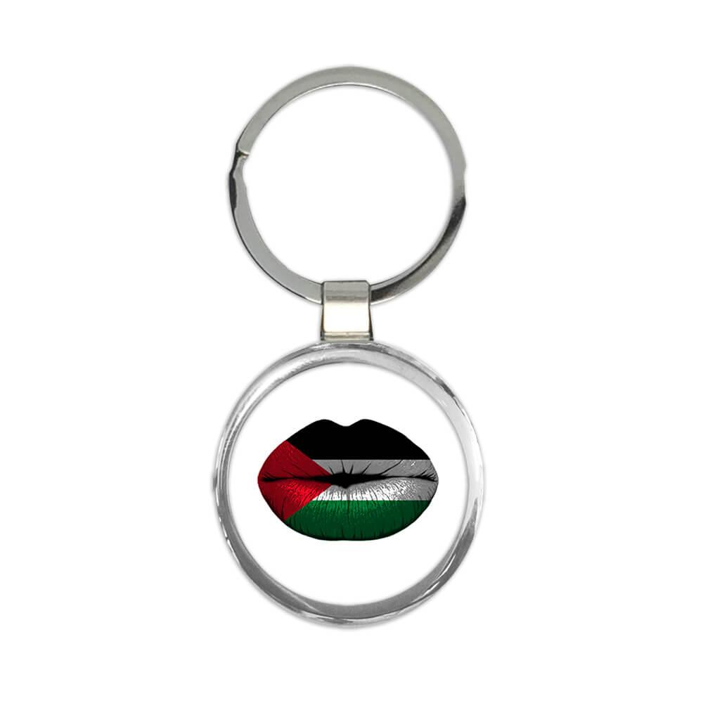 Lips Palestinian Flag : Gift Keychain Palestine Expat Country