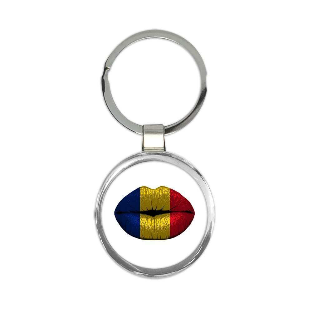 Lips Romanian Flag : Gift Keychain Romania Expat Country For Her Woman Feminine Women Sexy Flags Lipstick
