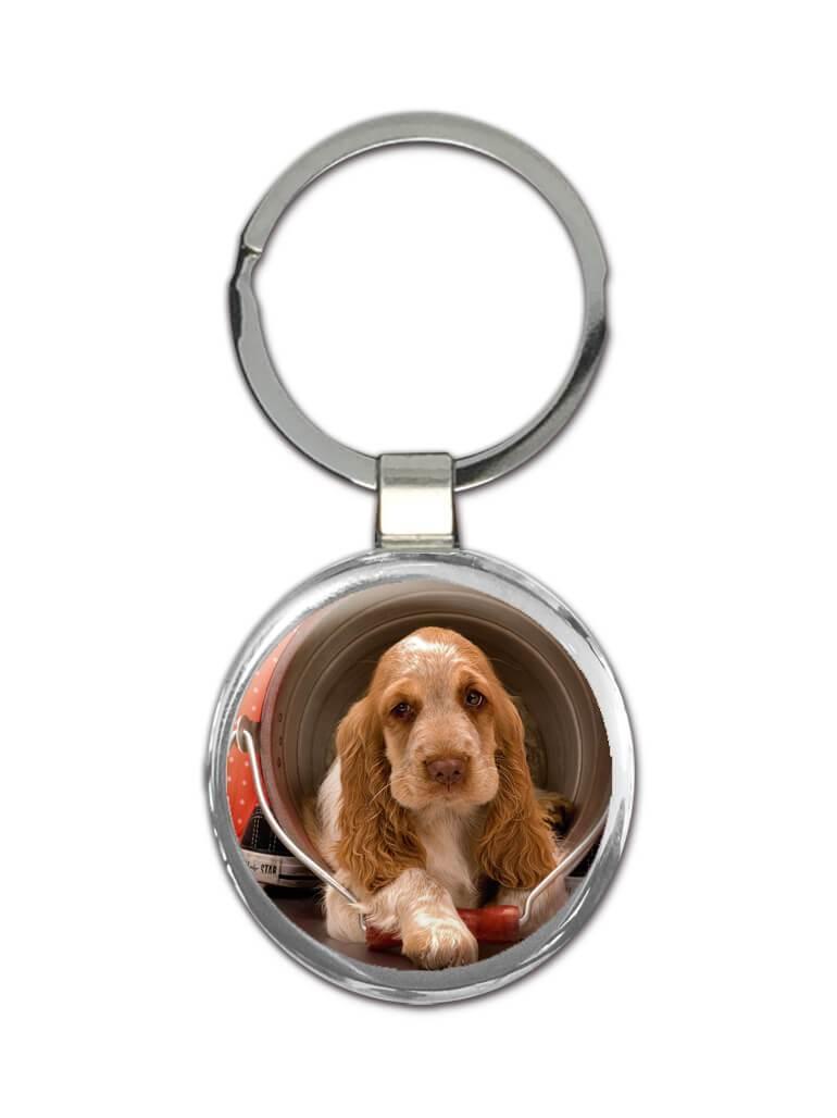 Cocker Spaniel : Gift Keychain Pet Animal Puppy Dog Cute Funny