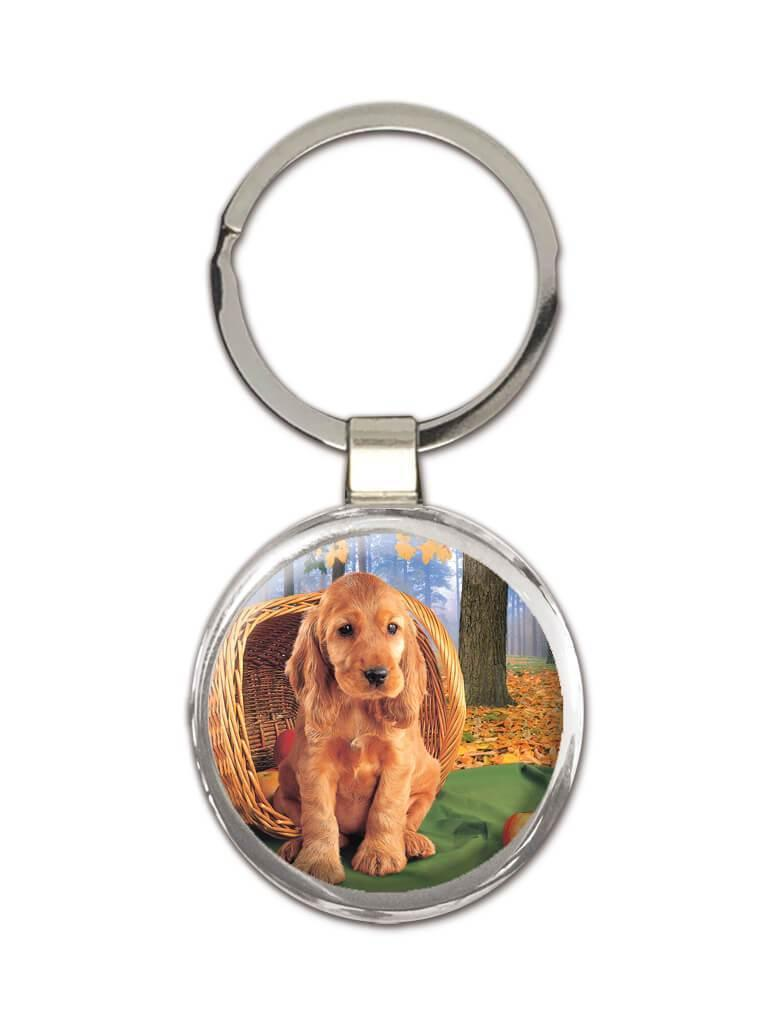 Dog : Gift Keychain Pet Animal Puppy Cocker Spaniel Canine Dog Mom Dad