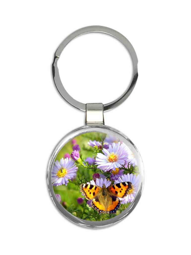 Butterflies : Gift Keychain Floral Flowers Female Mom for Secretary Nature Butterfly