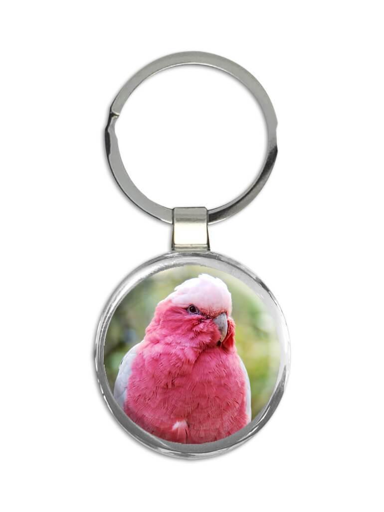 Pink Parakeet : Gift Keychain Bird Animal Watcher Exotic Colorful