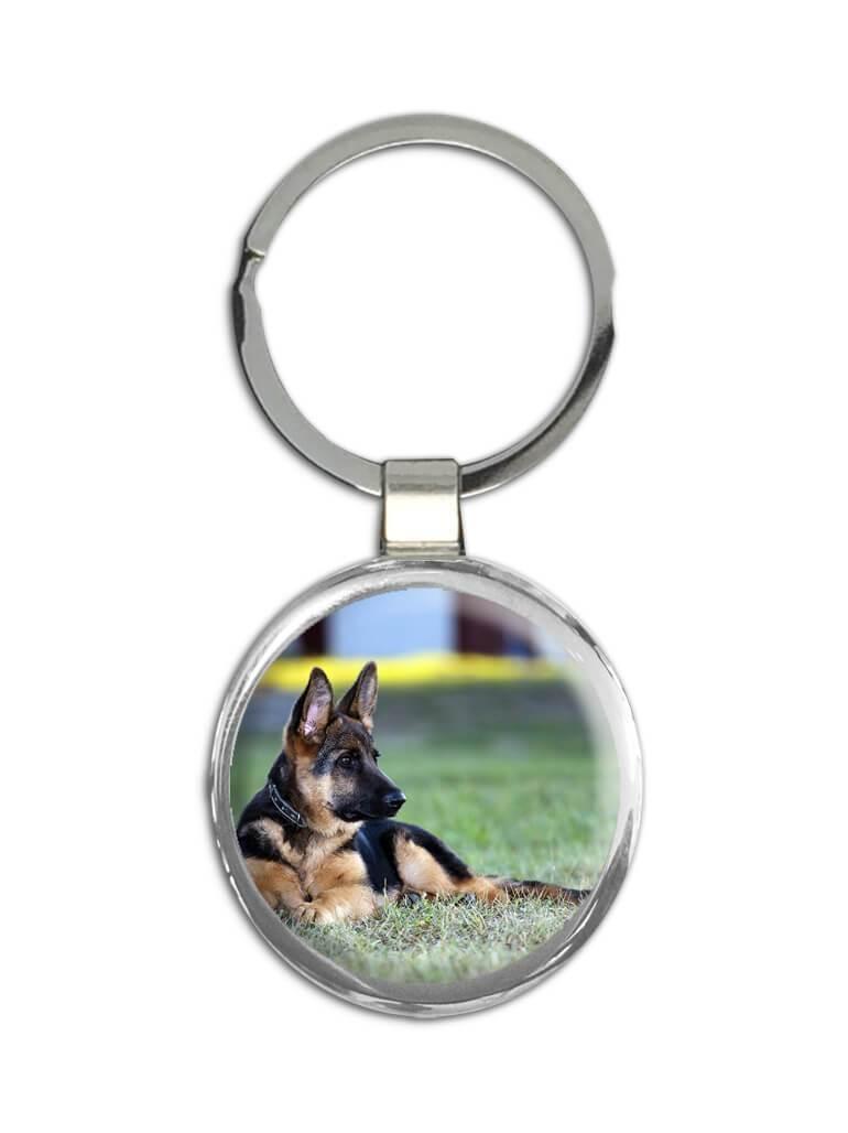 German Shepherd : Gift Keychain Dog Pet K-9 Animal Puppy Canine Pets Dogs