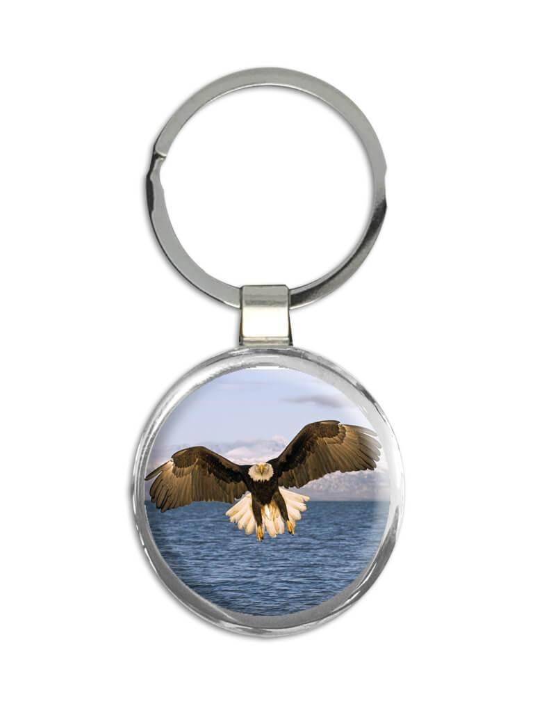 Bald Eagle : Gift Keychain Bird Nature USA American Animals 4th July Patriotic
