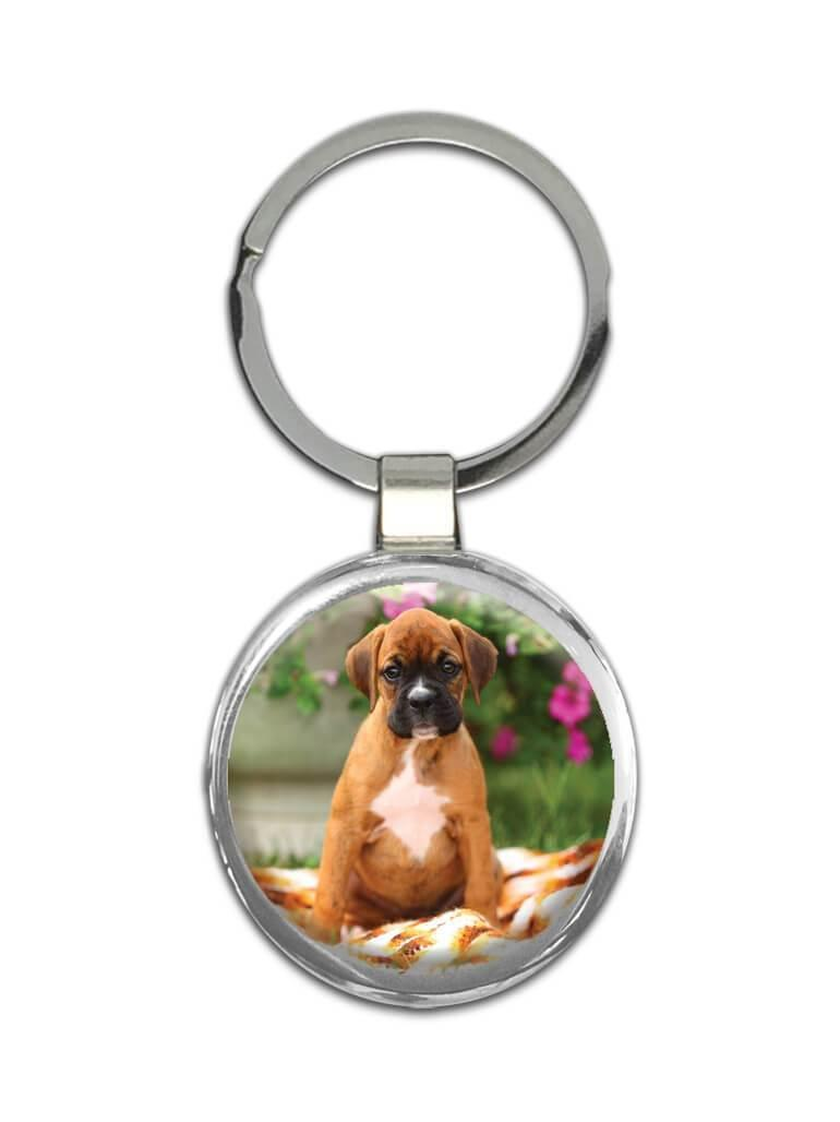 Dog : Gift Keychain Pet Animal Puppy Boxer Canine Pets Dogs