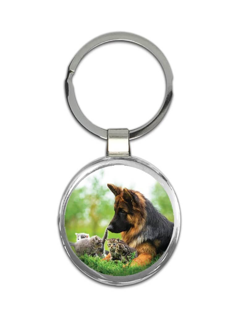 German Shepherd : Gift Keychain Dog Kitten Playing Pet K-9 Animal Puppy