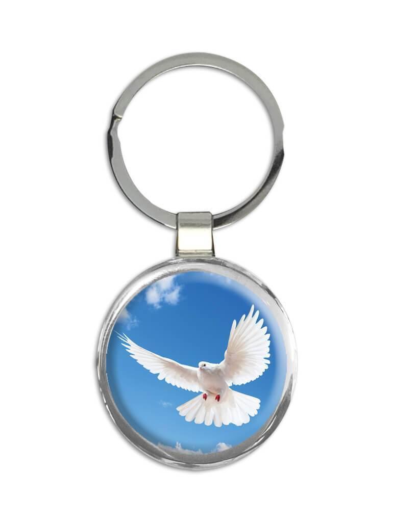 Dove : Gift Keychain Bird Religious Holy Spirit Nature Inspirational
