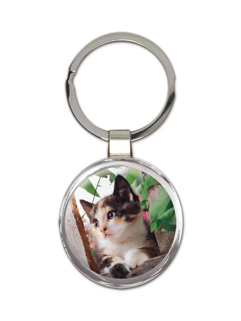Cat : Gift Keychain Cute Animal Kitten Funny Friend Feline Pets Lover Cat Mom Dad