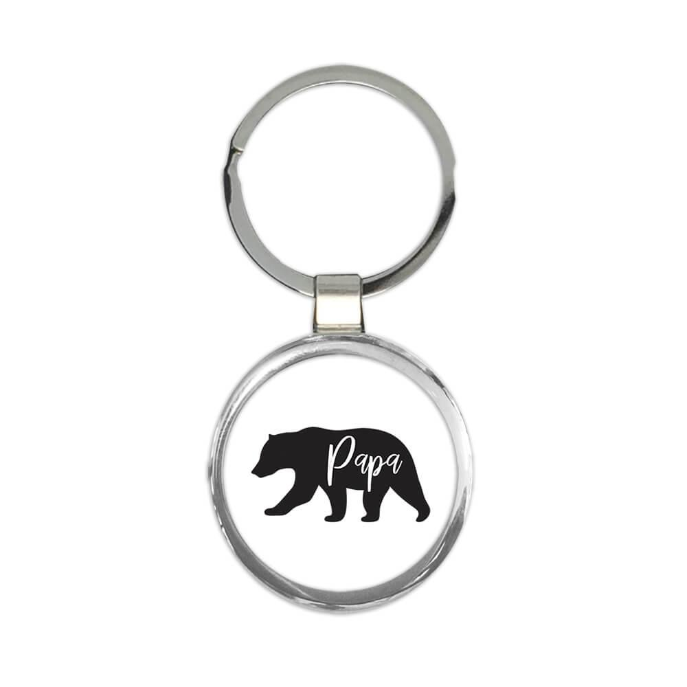 Papa Bear : Gift Keychain Fathers Day Christmas Birthday Grandfather Father Dad