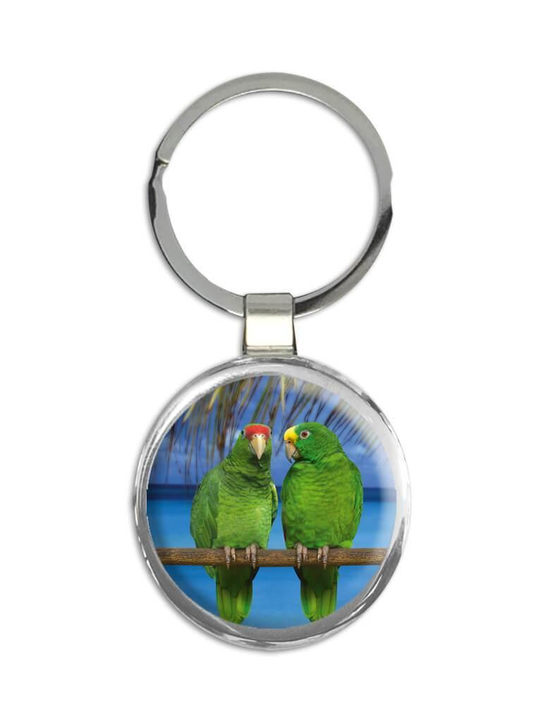 Parrot Tropical Beach : Gift Keychain Bird Nature Animal Cute