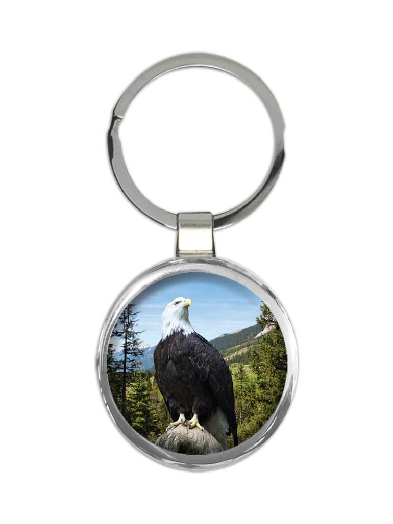 Bald Eagle : Gift Keychain USA American Patriotic 4th July Bird Animal