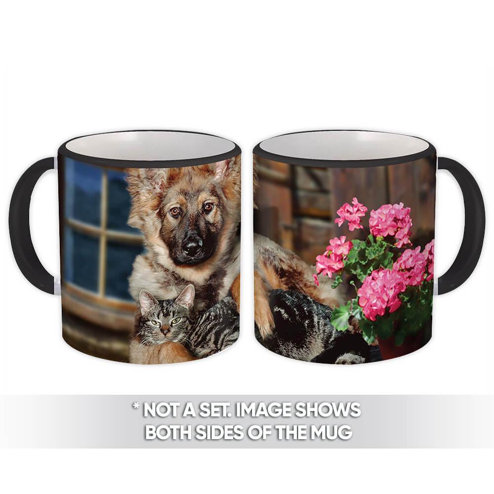 Dog & Cat : Gift Mug Pet Animal Puppy German Shepherd Funny Friend