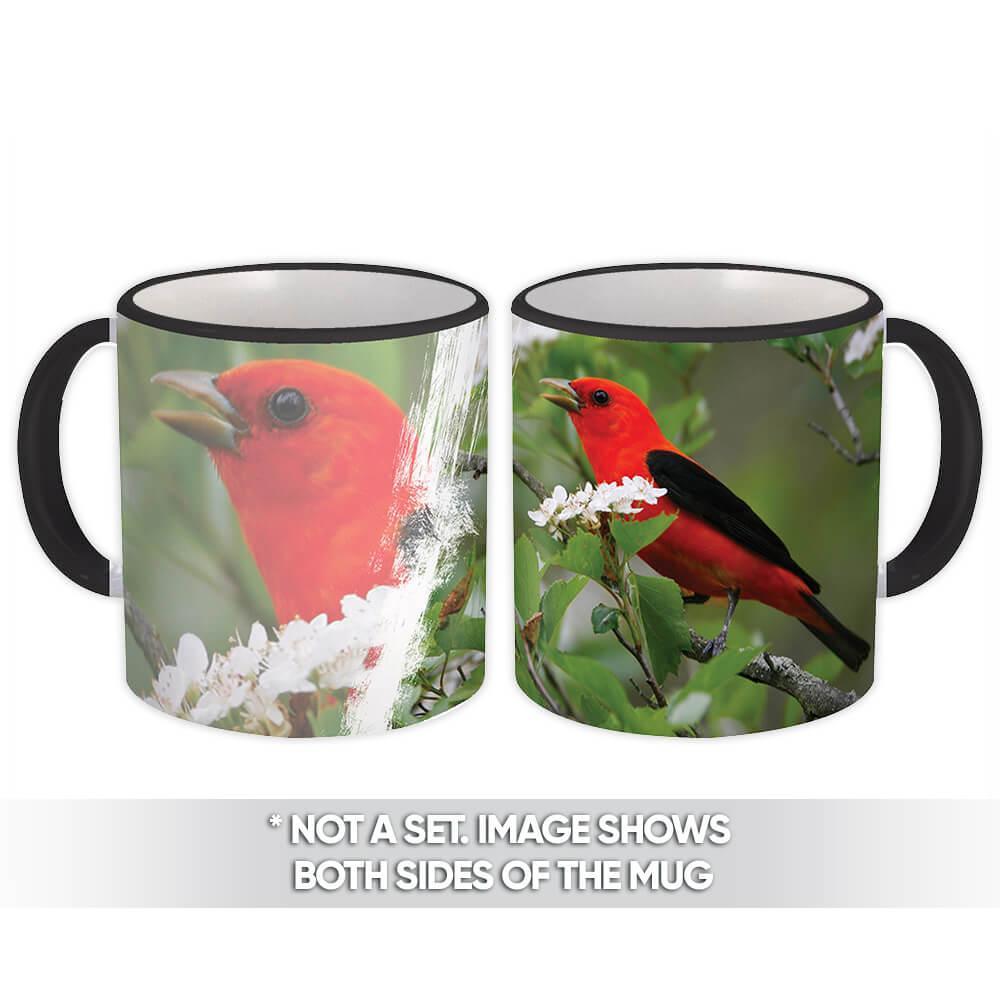 Scarlet Tanager : Gift Mug Bird Nature Aviary Bird Watcher Watching